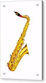 Saxophone Acrylic Print by Michael Vigliotti