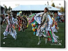 Scarf Fancy Dancer Acrylic Print by Scarlett Images Photography