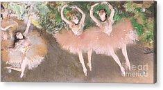 Scene De Ballet Acrylic Print by Edgar Degas