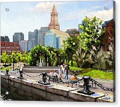 Scenic Boston Acrylic Print by Laura Lee Zanghetti