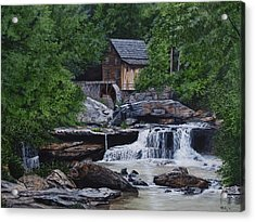 Scenic Grist Mill Acrylic Print by Vicky Path