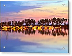 Scenic Sunset Acrylic Print by Frozen in Time Fine Art Photography