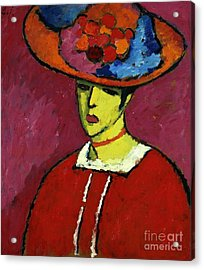 Schokko With Wide Brimmed Hat Acrylic Print by Celestial Images