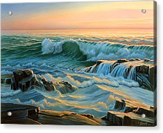 Schoodic Point Before Sunrise  Acrylic Print by Paul Krapf