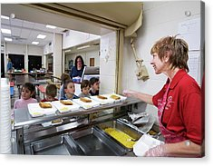 School Cafeteria Acrylic Print by Jim West