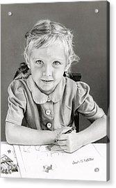 School Days 1948 Acrylic Print by Sarah Batalka