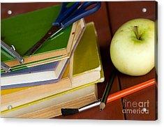 School Equipment Acrylic Print by Michal Bednarek