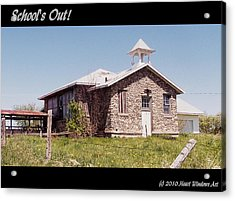 School Is Out Acrylic Print by Kathleen Luther