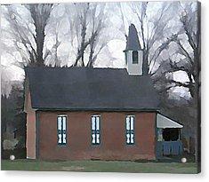 Schoolhouse Acrylic Print by Brenda Conrad
