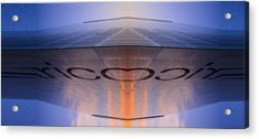 Sci-fi Building In Glass  And Tiles Acrylic Print by Toppart Sweden