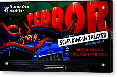 Sci Fi Theater Acrylic Print by Benjamin Yeager