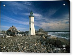 Scituate Lighthouse Acrylic Print by Bruce Roberts