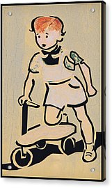 Scooter Girl Acrylic Print by Tony Grider