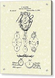 Score Keeper 1890 Patent Art Acrylic Print by Prior Art Design