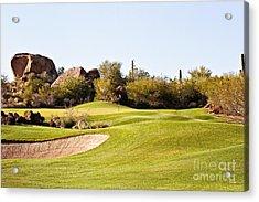 Scottsdale Golf Acrylic Print by Scott Pellegrin