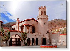 Scotty's Castle Acrylic Print by Kathleen Struckle