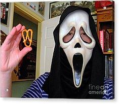 Scream And The Scream Pretzel Acrylic Print by Jim Fitzpatrick
