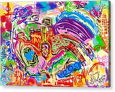 Scribble Acrylic Print by Gerry Robins