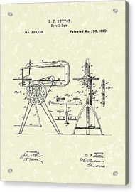 Scroll-saw 1880 Patent Art Acrylic Print by Prior Art Design