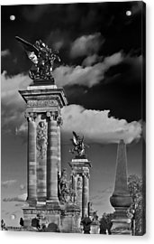 Sculptures Of Paris Acrylic Print by Mountain Dreams