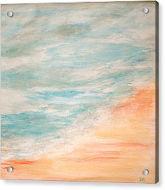 Sea And Sand Acrylic Print by Debi Starr