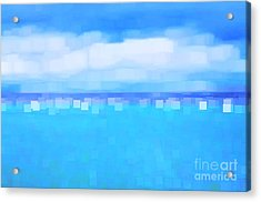 Sea And Sky Abstract Acrylic Print by Natalie Kinnear