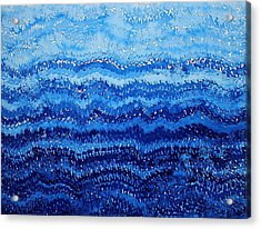 Sea And Sky Original Painting Acrylic Print by Sol Luckman