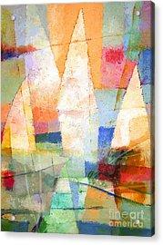 Sea Colors Acrylic Print by Lutz Baar