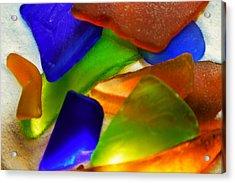 Sea Glass II Acrylic Print by Sherry Allen