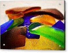 Sea Glass IIi Acrylic Print by Sherry Allen
