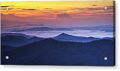 Sea Of Clouds At Sunrise Acrylic Print by Andrew Soundarajan