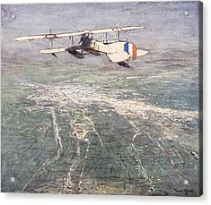 Sea-plane Flying Over Damascus Acrylic Print by Donald Maxwell
