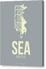 Sea Seattle Airport Poster 3 Acrylic Print by Naxart Studio