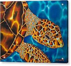 Sea Turtle Acrylic Print by Daniel Jean-Baptiste