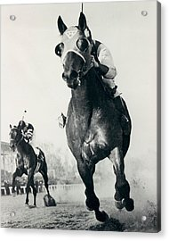 Seabiscuit Horse Racing #3 Acrylic Print by Retro Images Archive