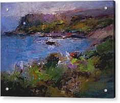 Seacave Point Acrylic Print by R W Goetting