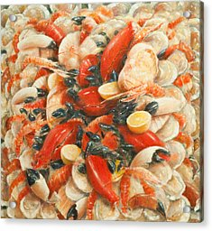 Seafood Extravaganza Acrylic Print by Lincoln Seligman