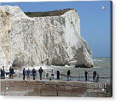 Seaford Head Cliffs Acrylic Print by Phil Banks