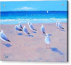 Seagulls Acrylic Print by Jan Matson