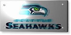 Seahawks 2 - Seattle Acrylic Print by Marcello Cicchini