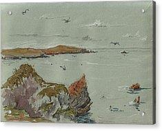 Seascape Atlantic Ocean Acrylic Print by Juan  Bosco