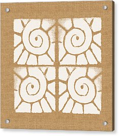 Seashell Tiles Acrylic Print by Linda Woods