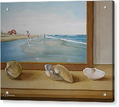 Seashells By The Jersey Shore Acrylic Print by Lauren Sweeney