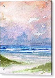 Seashore Sunset Acrylic Print by Rosie Brown