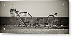 Seaside After Sandy Acrylic Print by Mark Miller