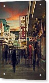 Seaside Boardwalk Acrylic Print by Kim Zier
