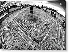Seaside Distorted Acrylic Print by John Rizzuto