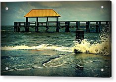 Seaside Dock Acrylic Print by Ali Dover