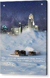 Seasons Greetings From Buffalo Acrylic Print by Peter Chilelli