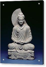 Seated Buddha Acrylic Print by Pakistani School